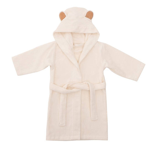 Ivory Bamboo Baby Bathrobe by Natemia