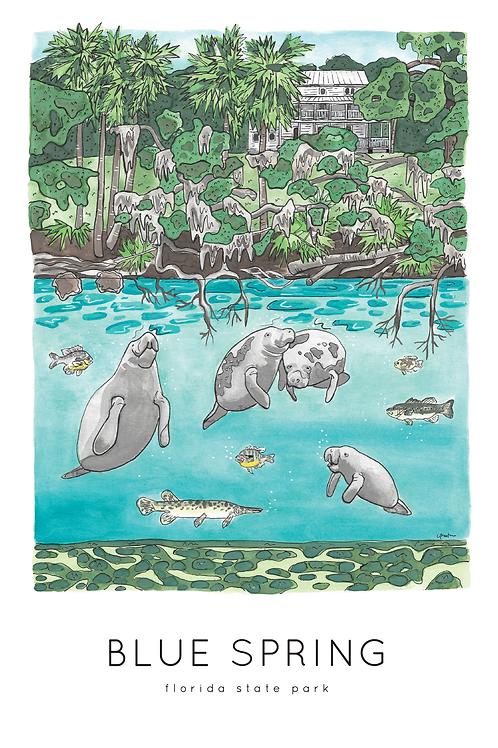 Blue Spring Print by Jelly Press