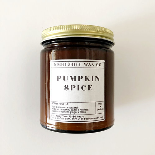 Pumpkin Spice Soy Candle by Nightshift Wax Co.
