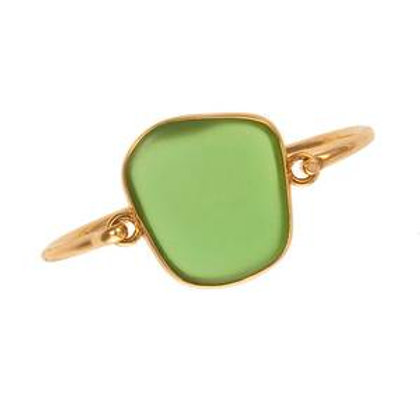 Alchemia Green Recycled Sea Glass Bangle
