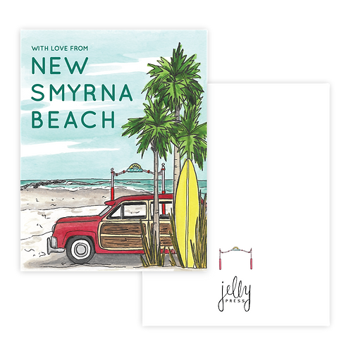 With Love from New Smyrna Beach Notecard Set of 8 by Jelly Press