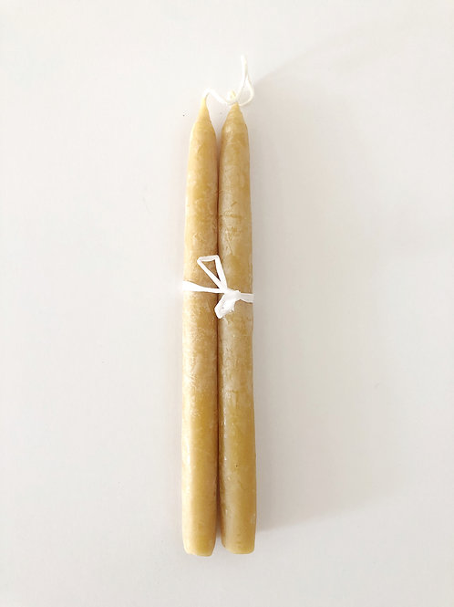 Beeswax Taper Candles by Beulah Honey