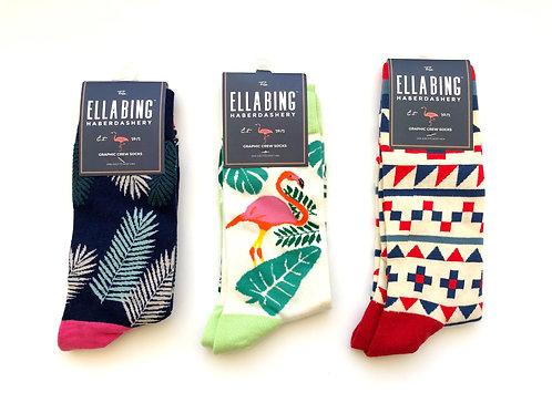 Ella Bing Haberdashery Crew Socks