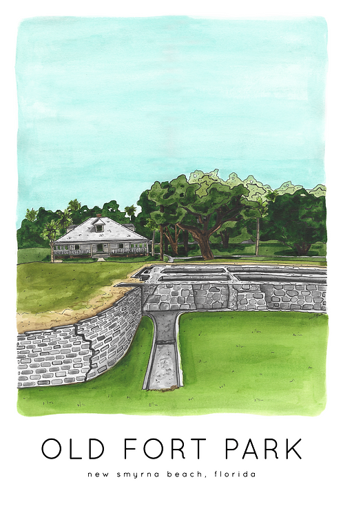 Old Fort Park Print by Jelly Press