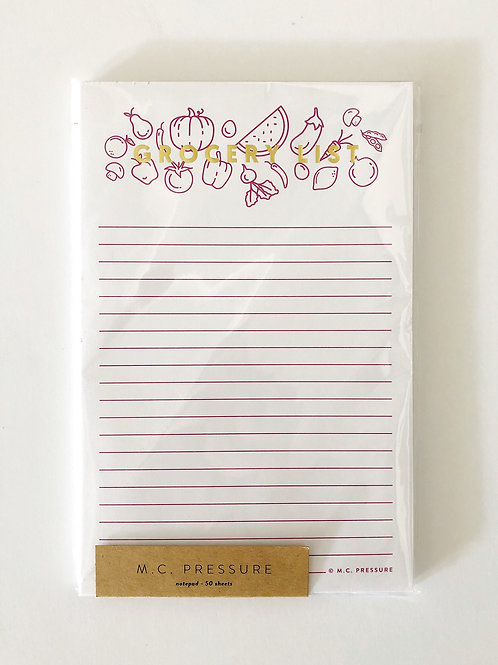 Grocery List Notepad by M.C.Pressure