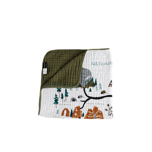 National Parks Reversible Quilt by Clementine Kids