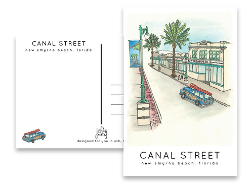 Canal Street Postcard by Jelly Press