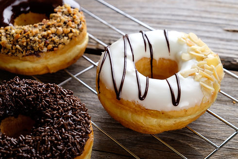 Chocolate Vanilla Donuts