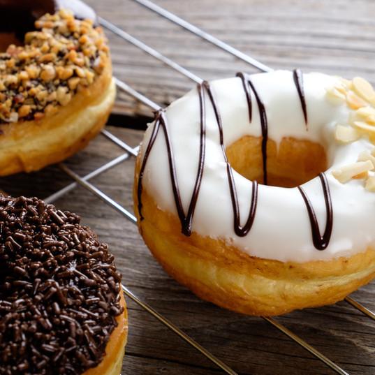 Chocolate Vanilla Donuts