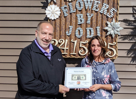 Flowers by Jodi receives First Dollar