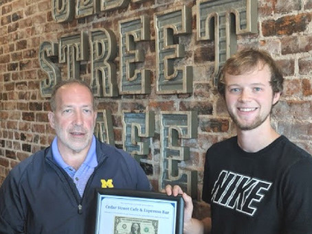 Cedar Street Cafe's New Owner Receives First Dollar