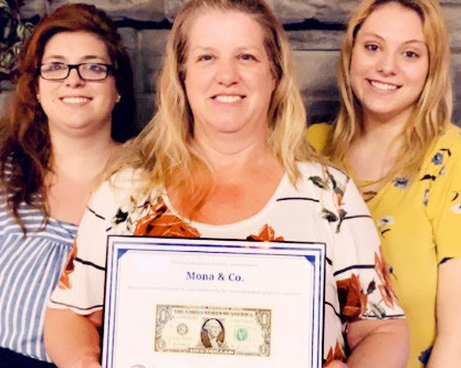 Mona & Co. receives 'first dollar'