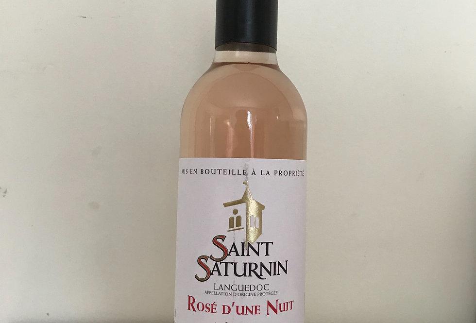 Vin d'Une Nuit, Saint Saturnin, Rose 2018, half bottle, 37.5 CL