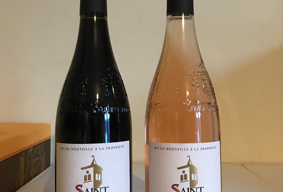 Vin d'Une Nuit, Rosé and Red, SPECIAL OFFER, a pair to be drunk in one night.