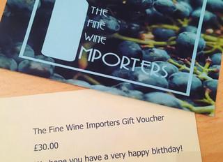Gift Vouchers for Christmas & Birthdays.