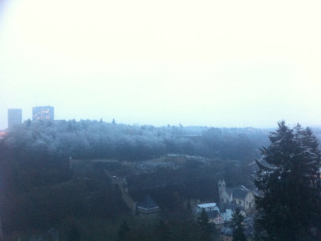 Luxembourg in the snow