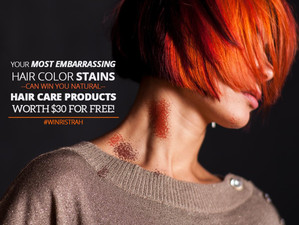 Ristrah Contest - Your Most Embarrassing Hair Color Stains Can Win You Natural Hair Care Products