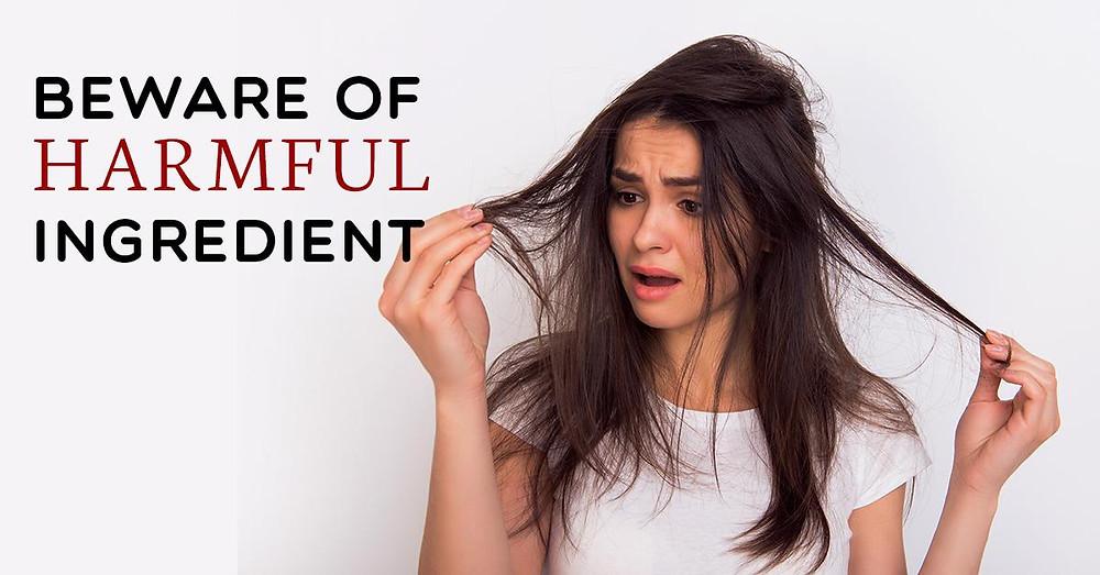 Avoid harmful ingredients for hairs