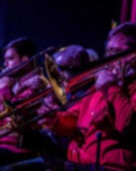 The Cincinnati Contemporary Jazz Orchestra Trombone Secton