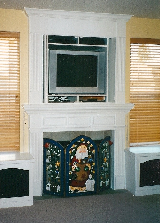 TV Cabinet and Fireplace Mantel Combo