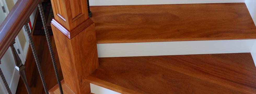 Brazilian Teak Stair Make Over