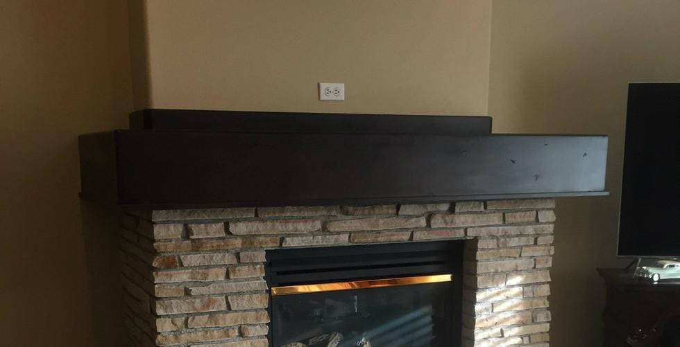Rustic Box Beam Mantel