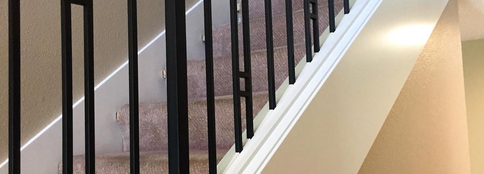 Contemporary Maple Handrail Renovation