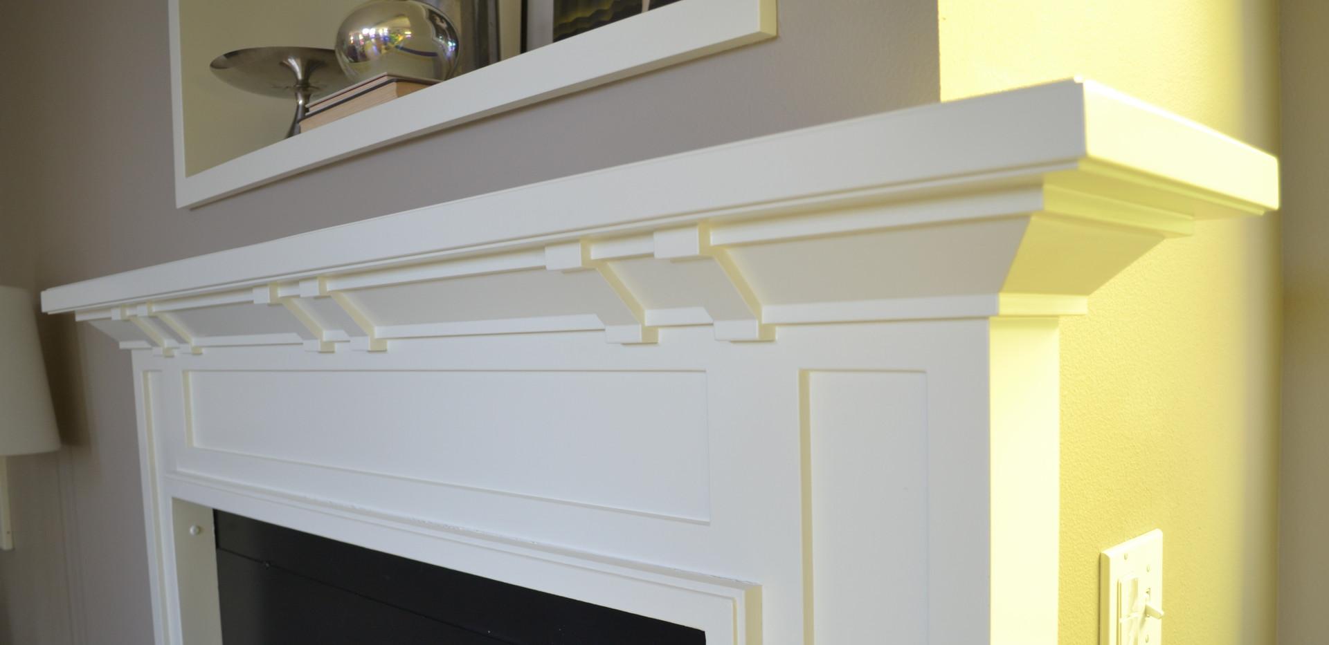 White Craftsman Mantel