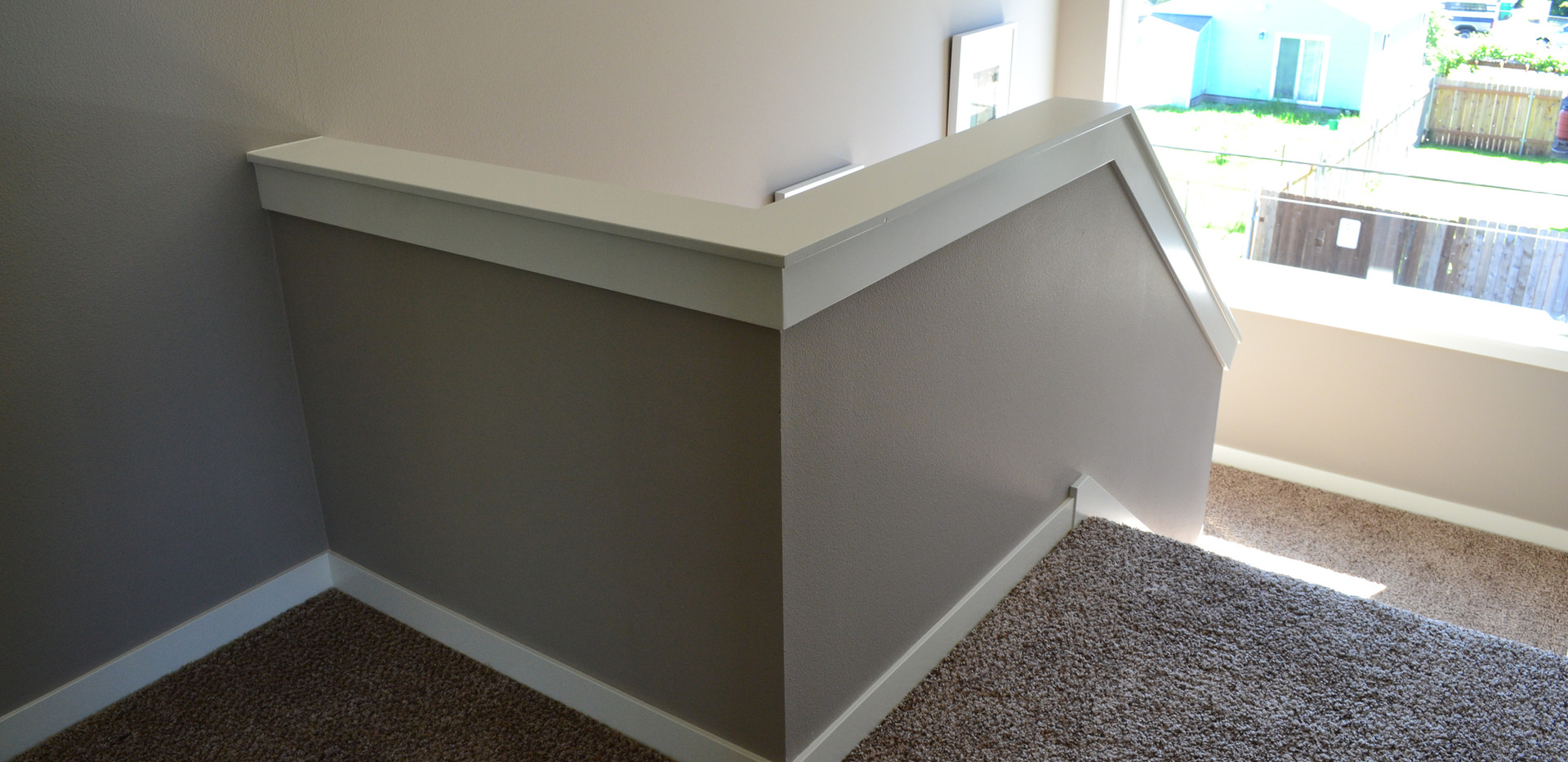 Craftsman Half Wall Cap and Casing Detail