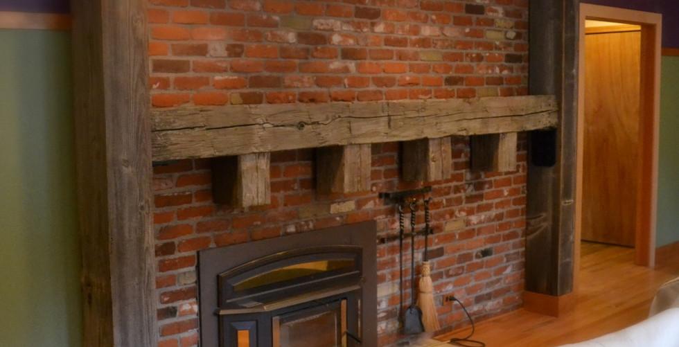 100 Year Barn Wood Mantel & Columns