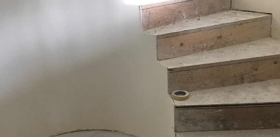 Rough Framed Curved Staircase
