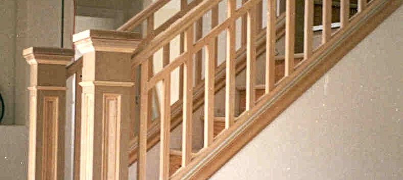 Craftsman unpainted stair system
