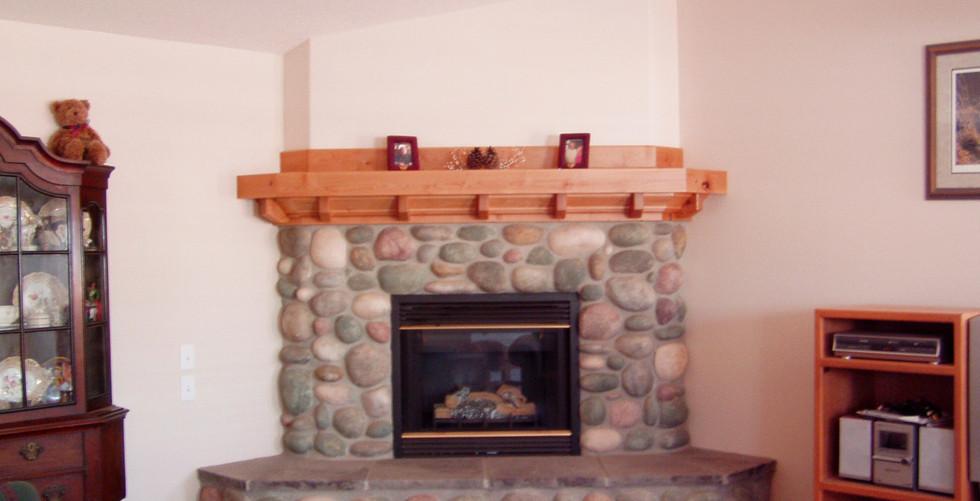Rustic Alder Fireplace Mantle