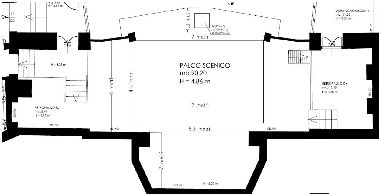 Pianta Teatro Cardinale