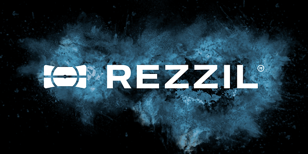 Rezzil Logo Explosion On Blue Moon CMYK.