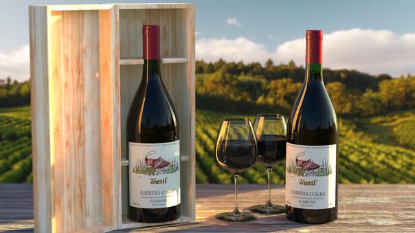Vietti Wine Bottle - from scratch!