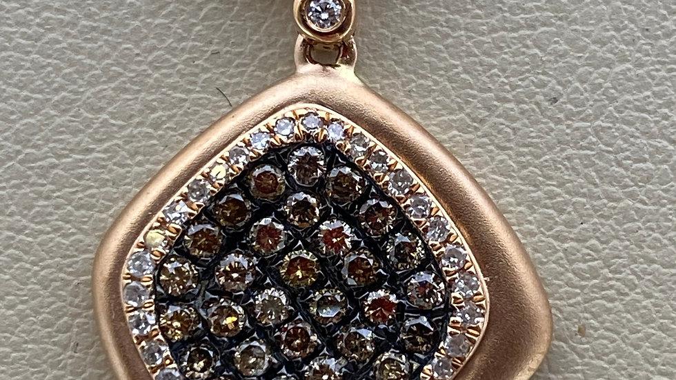 14K Rose Gold Pendant with Diamonds
