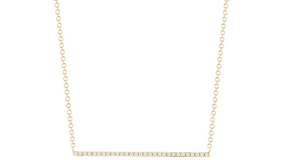 14K Yellow Gold Diamond Bar Pendant