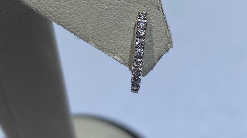 14K White Gold OmegaBack Earrings