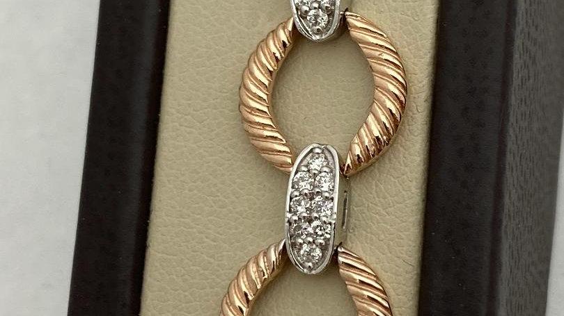 14K Two-Toned Diamond Bracelet