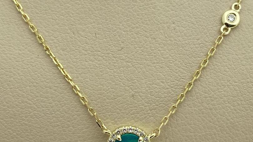 14K Yellow Gold Australian Opal Necklace