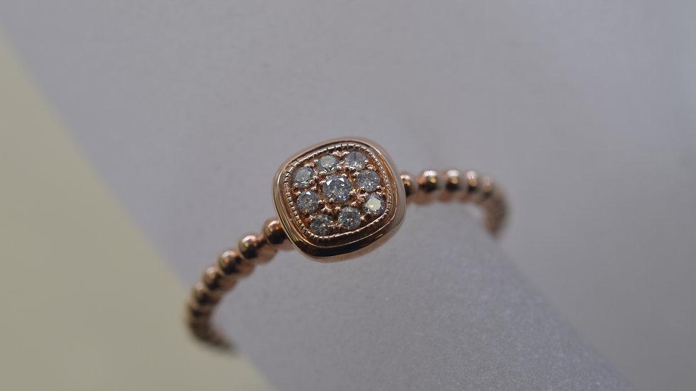 14K Rose Gold Diamond Ring with Diamonds