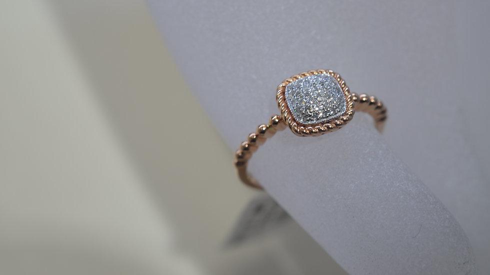14KRose Gold Diamond Ring