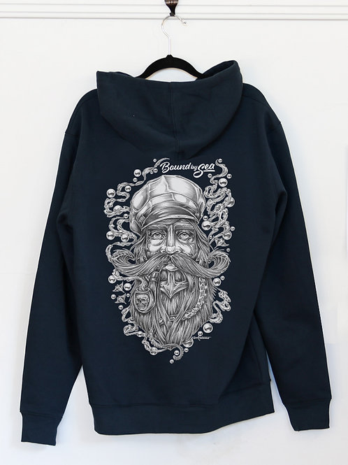THE SEA CAPTAIN HOODIE (UNISEX) NAVY