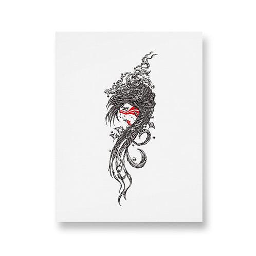 LUNA - Unframed Washi Print - A3
