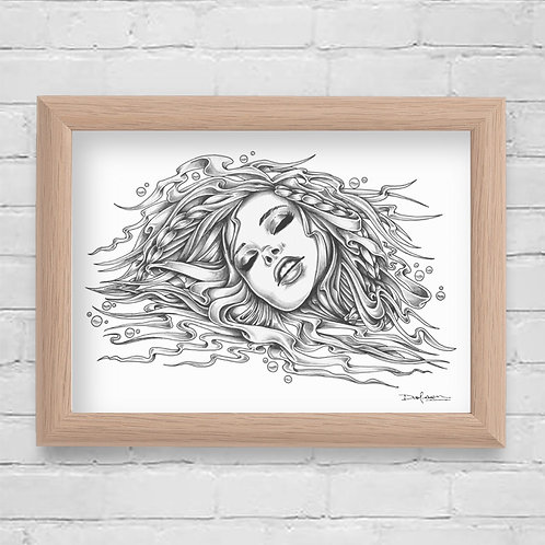 LOST AT SEA - Framed Canvas Print - 21 x 30 cm