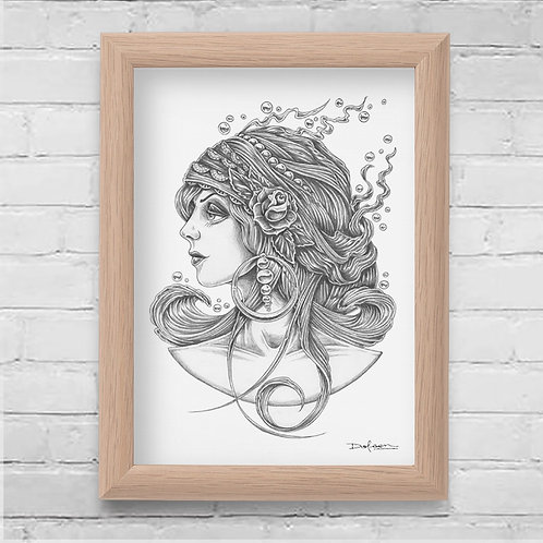 GYPSY - Framed Canvas Print - 21 x 30 cm