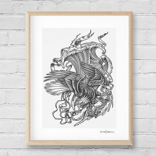 TALON PEAK - Framed Canvas Print - 32 x 42 cm
