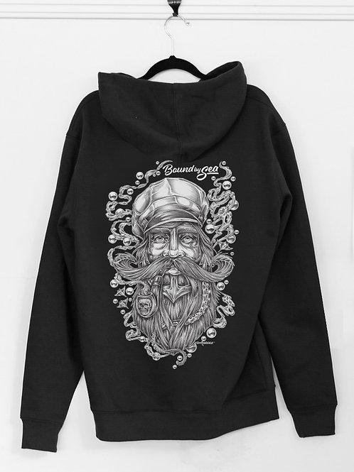 THE SEA CAPTAIN HOODIE (UNISEX) BLACK