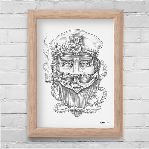 THE CAPTAIN - Framed Canvas Print - 21 x 30 cm